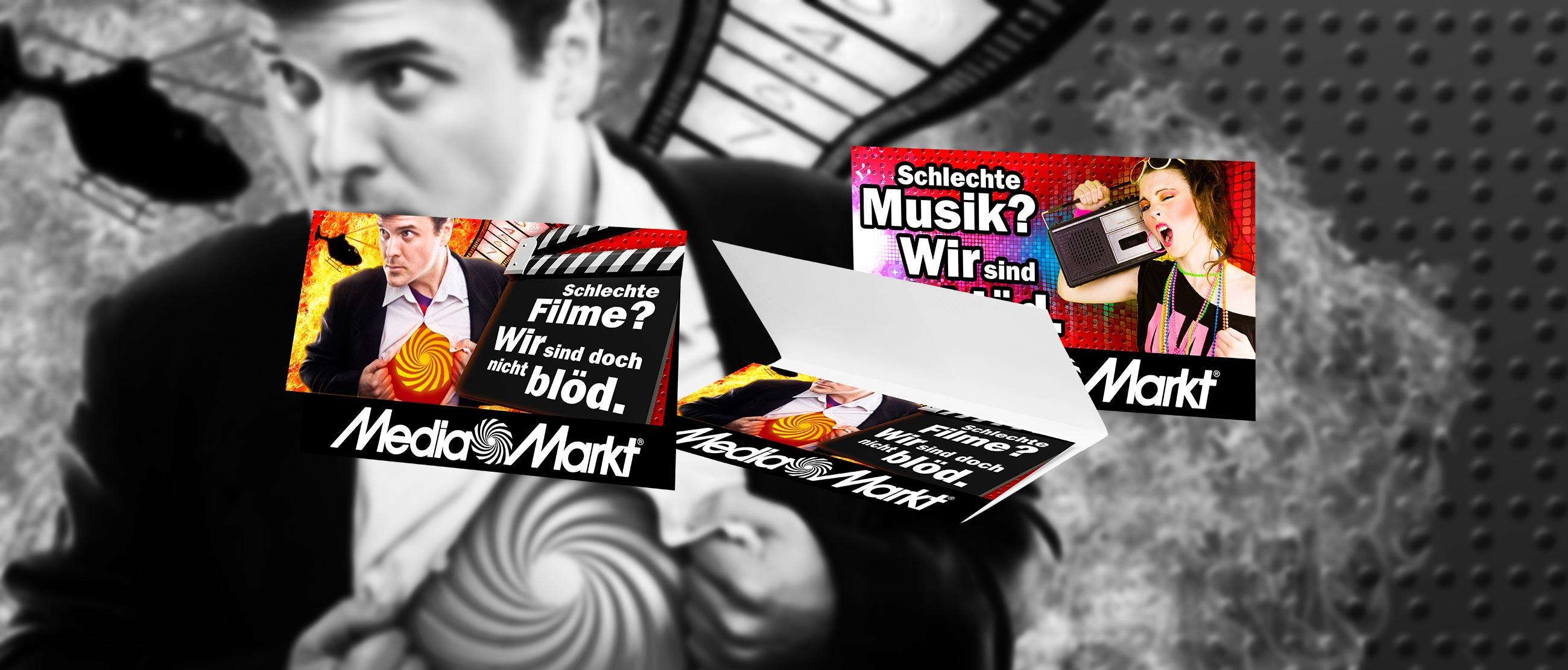 Media Markt: Gestaltung einer Einstecktasche für Blu-rays, DVDs und CDs